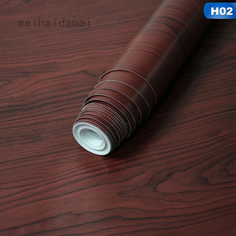 Weihaidamai 智中 Pvc 自粘牆紙仿木紋客廳臥室裝飾牆紙牆貼棒牆紙