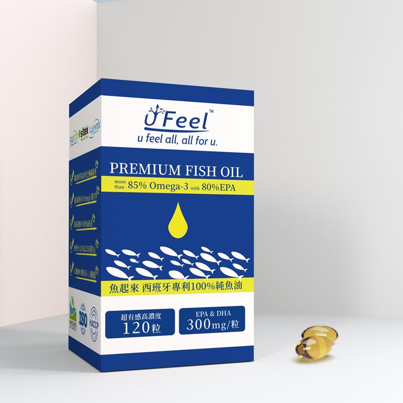 超有感生技西班牙100%專利純魚油[85%以上omega-3epa 80%dha 0.2%