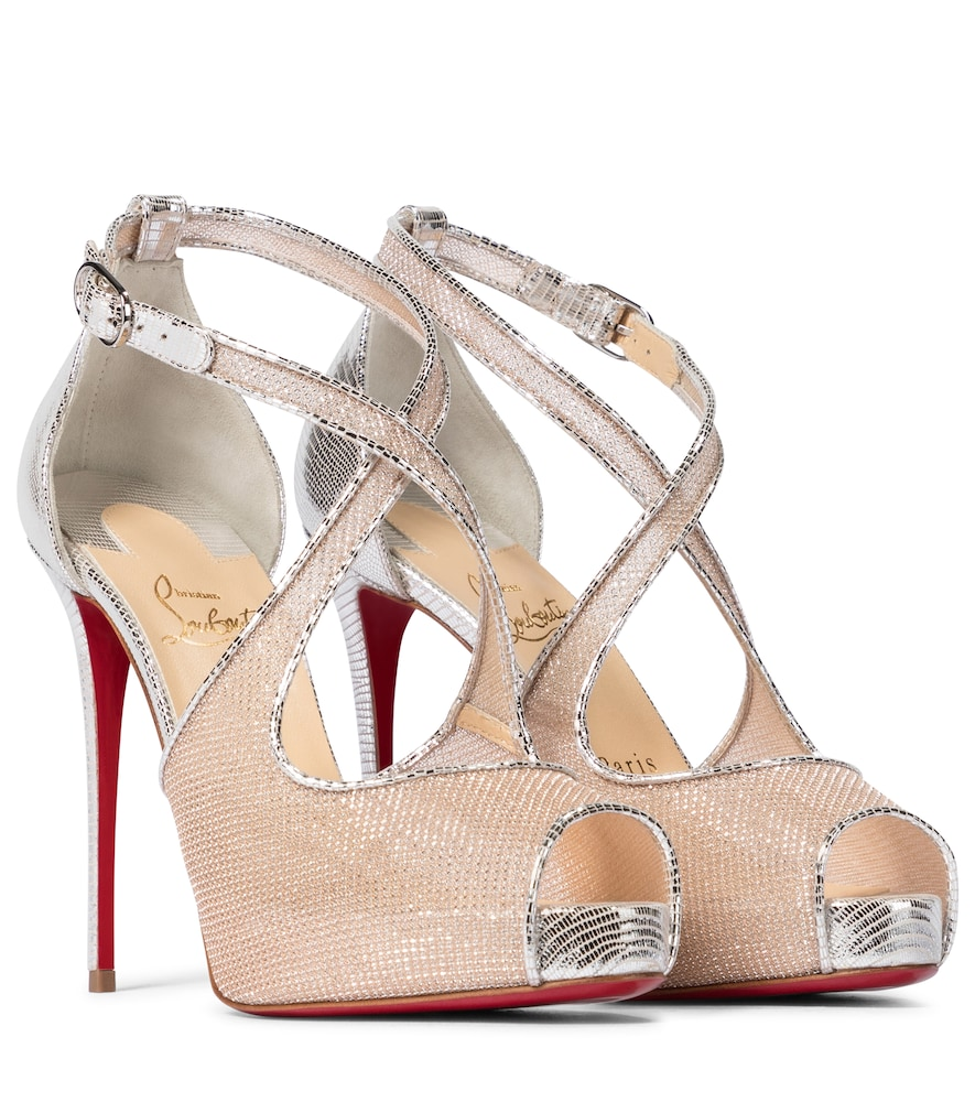 Mariacar 120 leather and mesh sandals