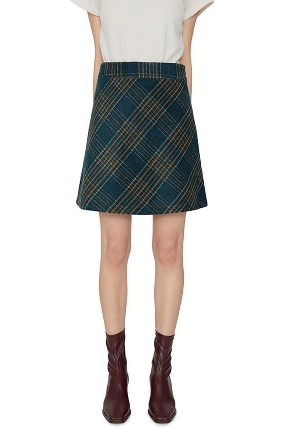 韓國空運 - Welsh check mini skirt 裙子