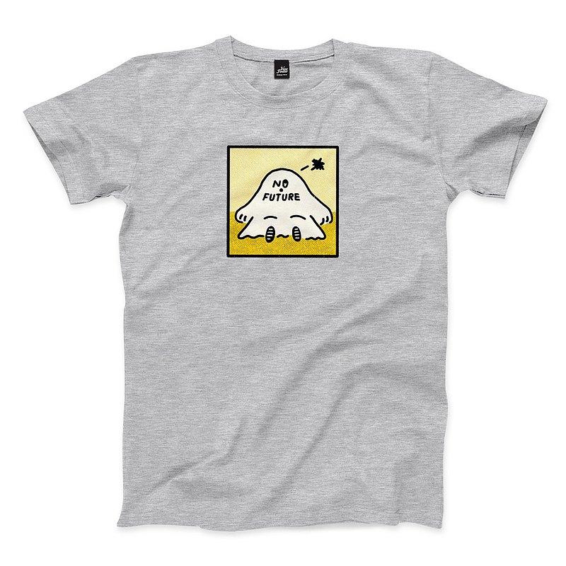 焦慮 NO FUTURE - 深麻灰 - 中性版T恤