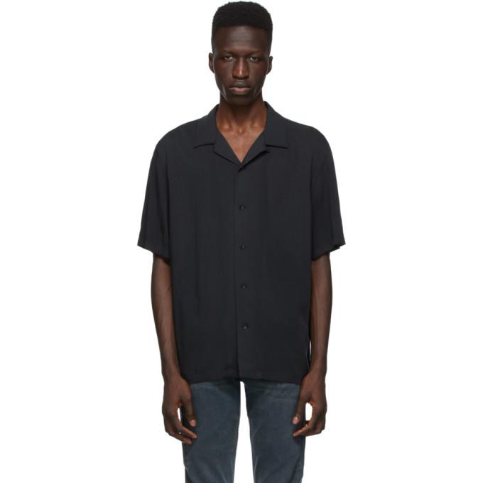 Rag and Bone 黑色 Avery 短袖衬衫