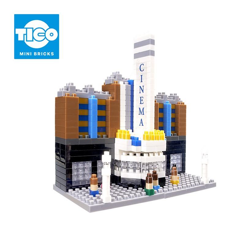 TICO微型積木 經典建築系列 電影院(T-1123)