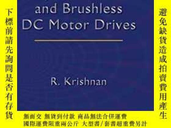 二手書博民逛書店Permanent罕見Magnet Synchronous And Brushless Dc Motor Driv