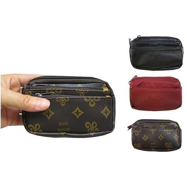 ~雪黛屋~Lian 零錢包中型容量主袋+外袋共三層可信用卡鑰匙包進口防水防刮皮革材質