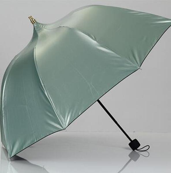 遮陽傘 黑膠晴雨兩用公主傘學生可愛防曬遮陽三折傘【快速出貨八折下殺】