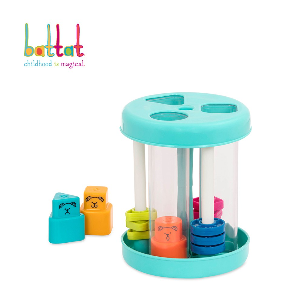 Battat 形狀發響盒(湖水綠) 小朋友 玩具 形狀對應
