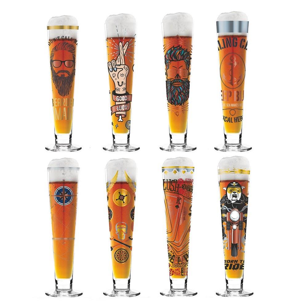 【德國RITZENHOFF】BLACK LABEL黑標經典啤酒杯 共8款 附杯墊 禮盒包裝《屋外生活》