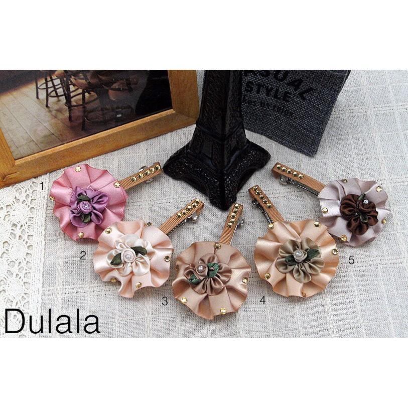 Dulala杜拉拉 飾品 自動夾 布料髮夾 髮夾 布料自動夾