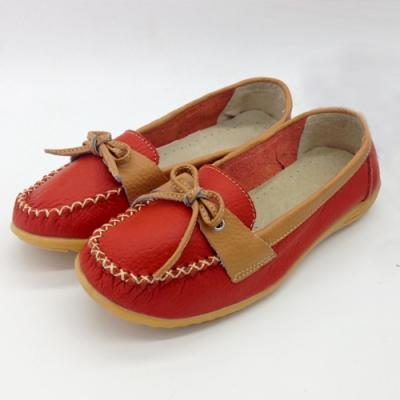 韓國KW美鞋館-休閒寫真素面造型真皮鞋