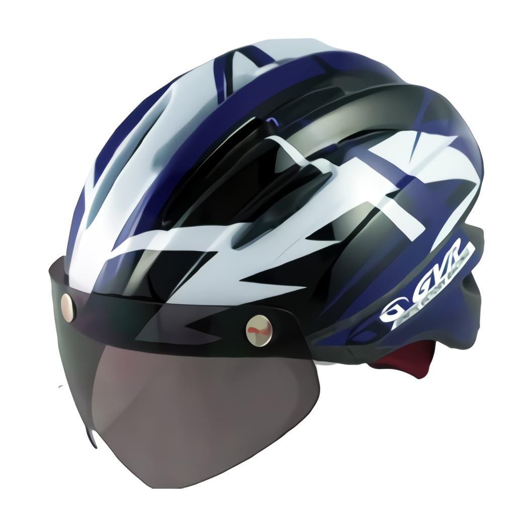 GVR 跳躍系列 紫色-磁扣式鏡片安全帽/頭盔-崇越單車
