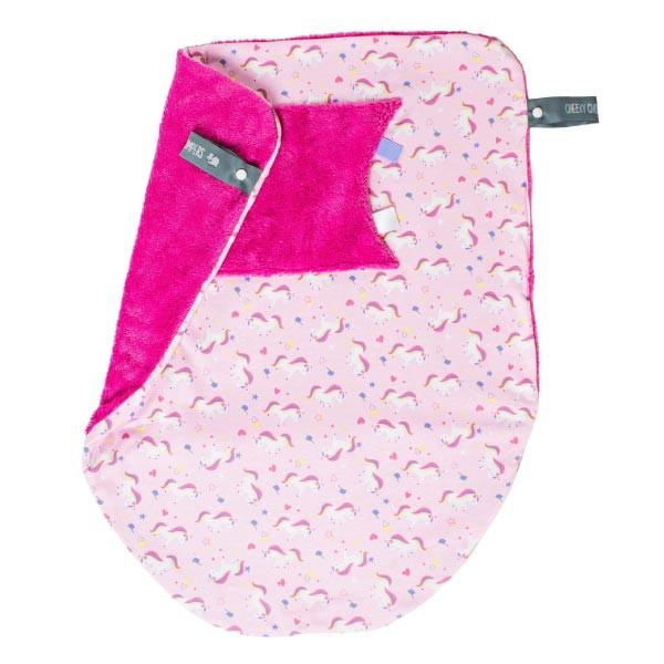 Cheeky Chompers Cheeky Blanket 袋鼠搓搓被/防風毯/冷氣毯 獨角獸(附提袋)【麗兒采家】