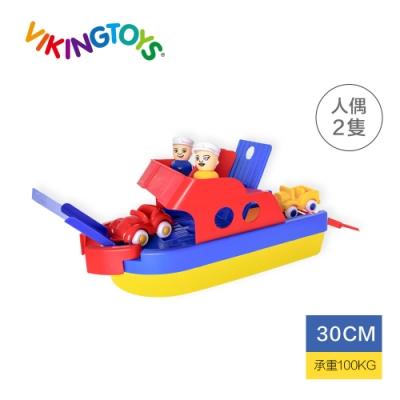 【瑞典 Viking Toys】Jumbo 快艇停車場 -30cm 81098(含兩隻人偶與車車)