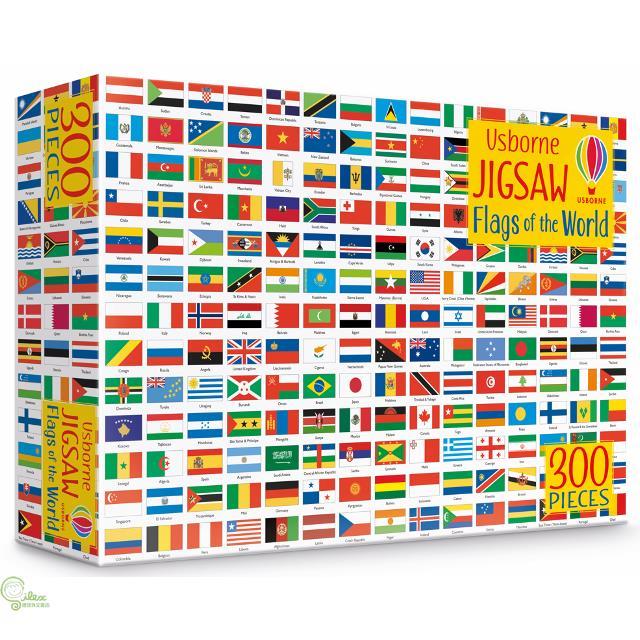 Usborne Book and Jigsaw: Flags of the World【禮筑外文書店】(盒裝)[75折]