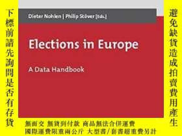 二手書博民逛書店Elections罕見In EuropeY364682 Nohlen, Dieter Nomos Verlag
