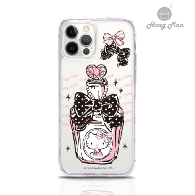 【Hong Man】三麗鷗系列 iPhone 12  Pro Max 6.7吋吊繩空壓手機殼套組 Kitty 香水