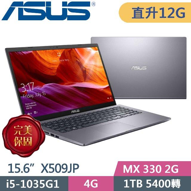 ASUS X509JP-0071G1035G1 星空灰(i5-1035G1/4G+8G/1TB/MX 330 2G/15.6 FHD/Win10)特仕