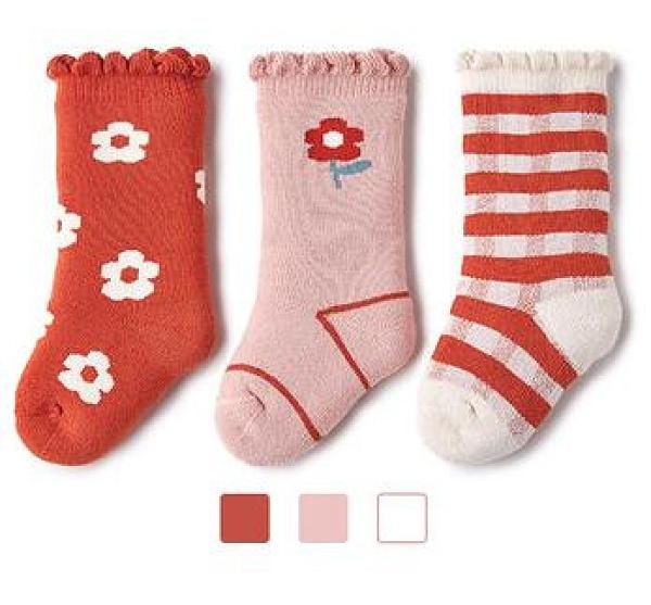 兒童襪子 襪子冬季加厚保暖襪寶寶加絨毛圈襪兒童襪春純棉【快速出貨八折優惠】