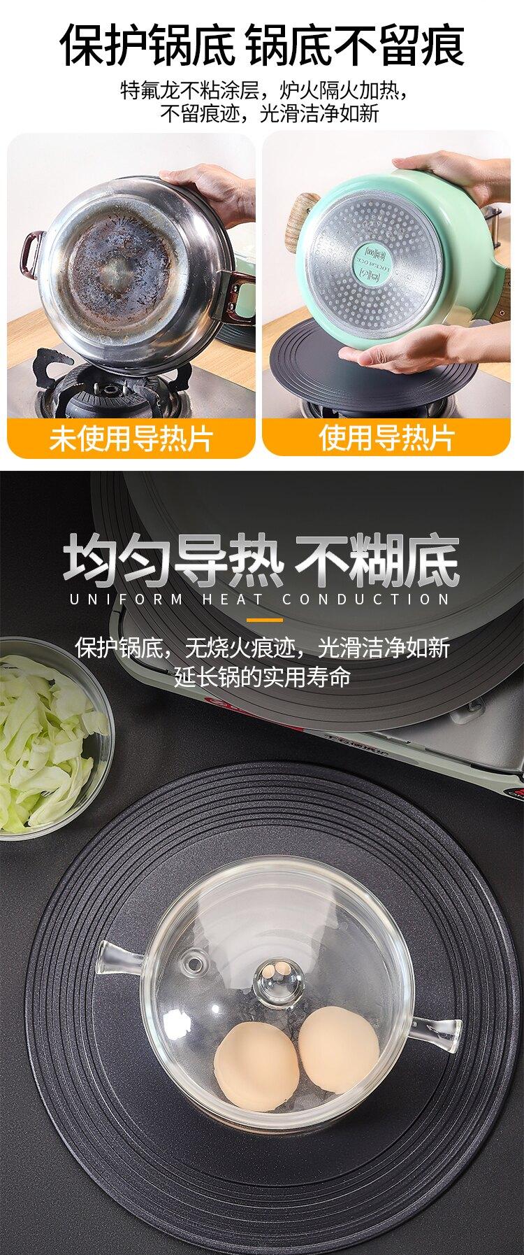 解凍板 燃氣灶導熱板防燒黑煤氣導熱盤護鍋節能家用解凍板傳熱墊廚房神器『廚房用品』