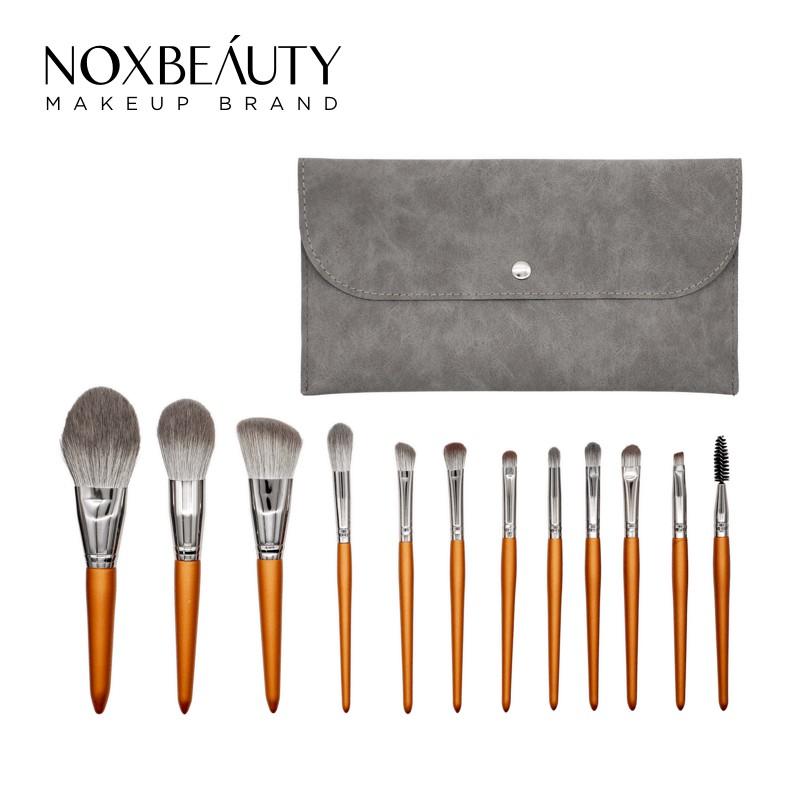 NOXBEAUTY 12支金色化妝刷 刷具 帶刷包