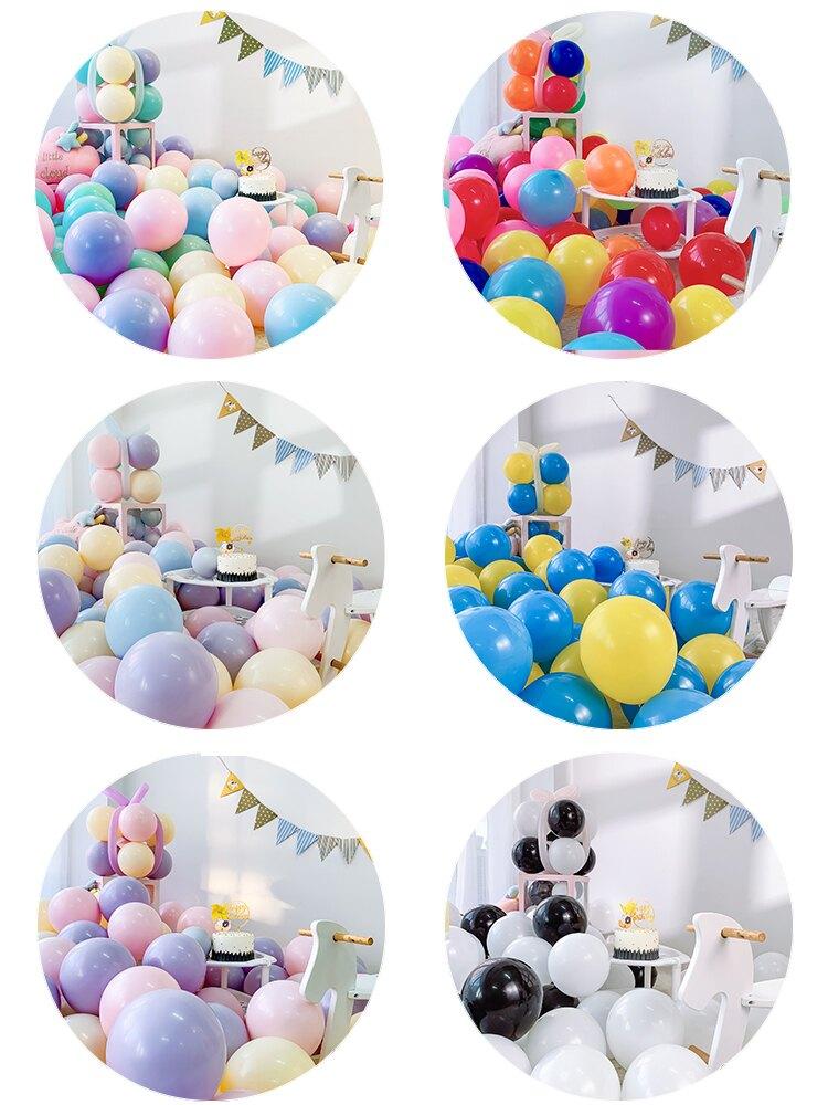 氣球加厚防爆汽球生日 100個批發裝飾場景布置兒童卡通馬卡龍彩色