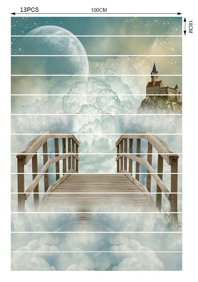 G666云中古城樓梯貼個性家居臺階個性創意時尚網紅裝飾貼畫1入