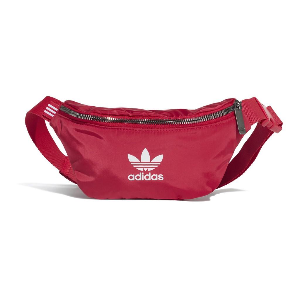 adidas 包包 Originals Waistbag 紅 白 男女款 三葉草 腰包 ED5876 【ACS】