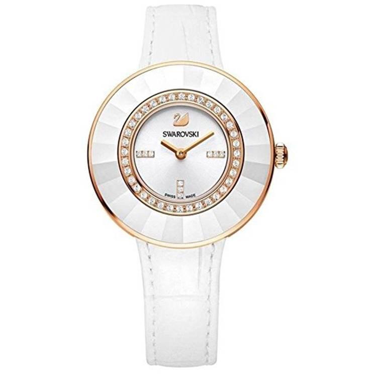 Swarovski 施華洛世奇 5182265 Octea Classica水晶錶圈時尚腕錶白玫瑰金 35mm 廠商直送