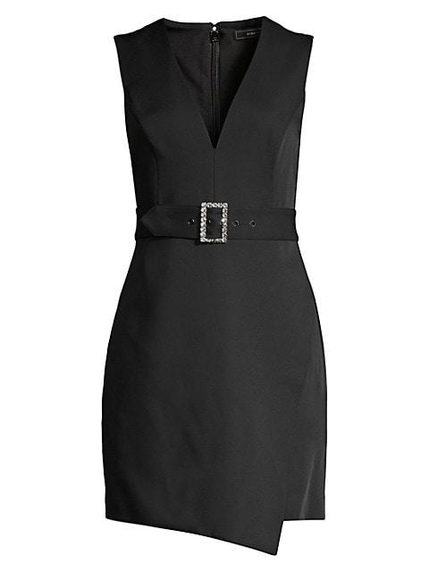 Belted Sleeveless Blazer Shift Dress