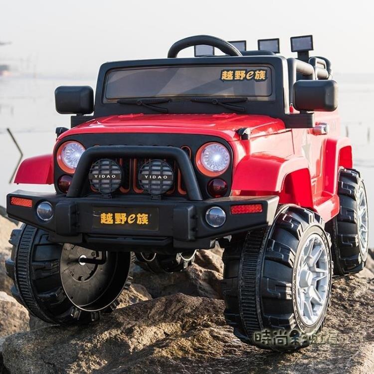 嬰兒童電動車四輪越野遙控汽車可坐小孩電瓶童車寶寶玩具車可坐人yh