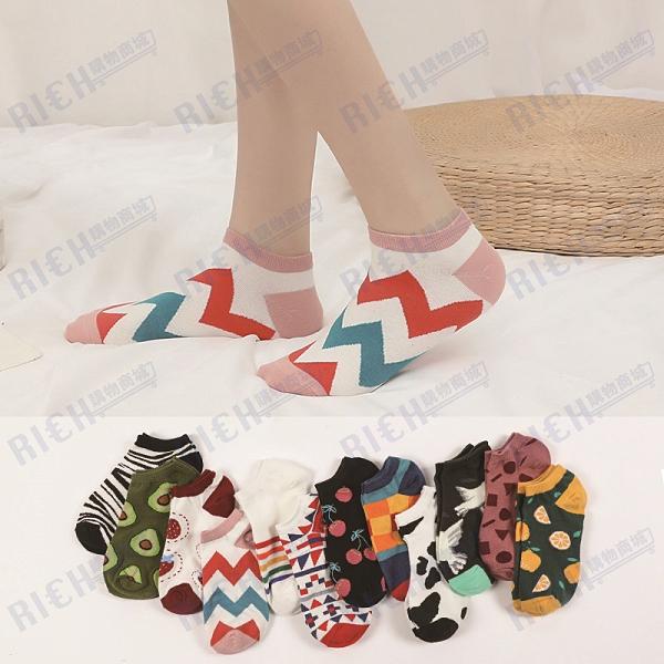 日系襪子女短襪男淺口春夏季棉薄款卡通ins潮女襪可愛街頭船襪
