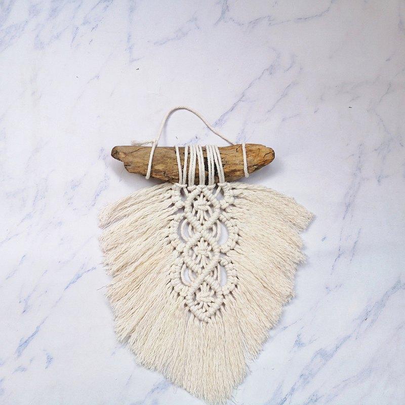 漂流木編織小掛毯【Macrame Wall Hanging】