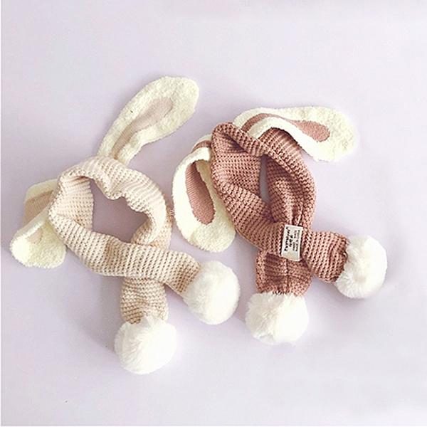 學院風可愛兔耳圍巾 兒童圍巾