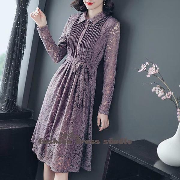 依米迦 洋裝 秋連身裙寬鬆顯瘦中長款