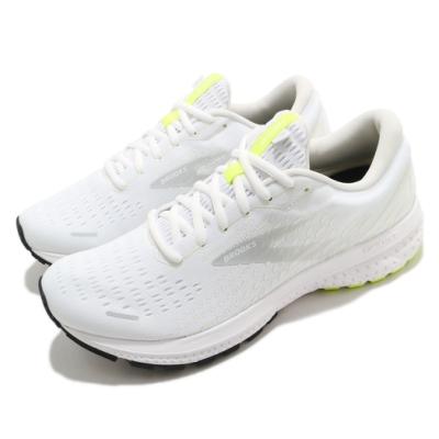 Brooks 慢跑鞋 Ghost 13 運動 男鞋 路跑 緩震 DNA科技 透氣 健身 球鞋 白 灰 1103481D135