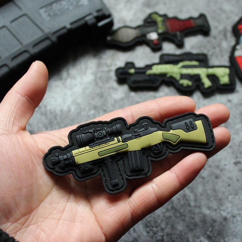 Q版武器魔術貼PVC硅膠臂章魔改SVDK徽章軍迷戰術士氣貼SOCOM M1A1入