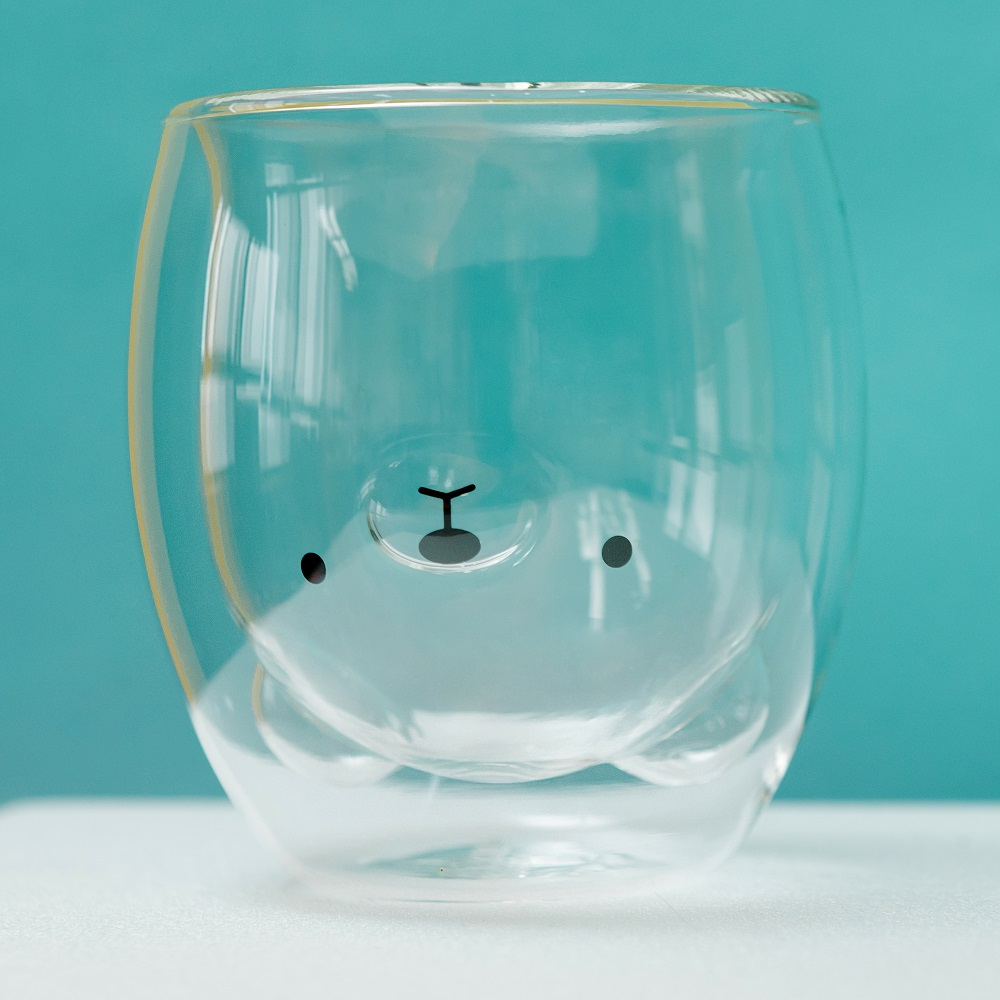 【JsLove皆樂】小熊造型雙層玻璃杯
