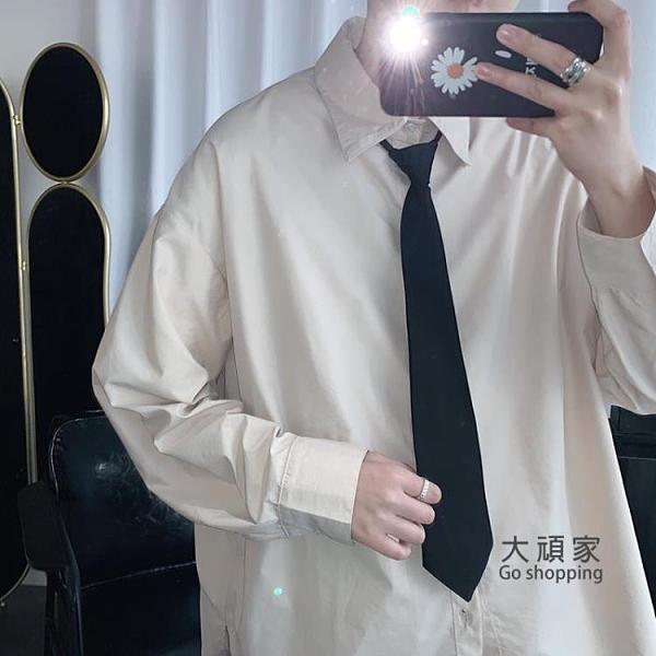 領帶 韓版休閒純色懶人拉鍊領帶青少年學生情侶細小領帶商務職業領帶男『交換禮物』