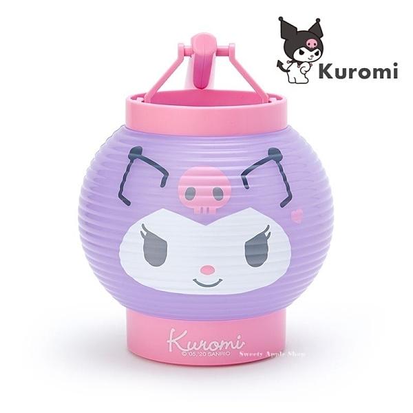 日本限定 三麗鷗 酷洛米 庫洛米 大臉版 圓形燈籠造型 LED手提燈 / 夜燈