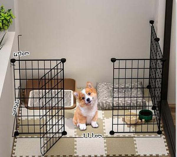 寵物圍欄 圍欄狗狗隔離門貓咪柵欄護欄中小型犬泰迪室內狗窩家用狗籠子TW【快速出貨八折搶購】