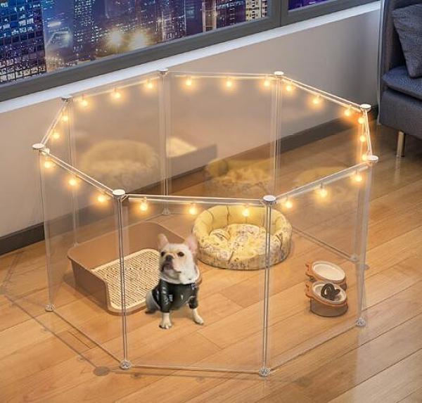 寵物圍欄 狗狗寵物柵欄籠子室內門欄自由組合欄桿護欄隔離門小型犬TW【快速出貨八折搶購】