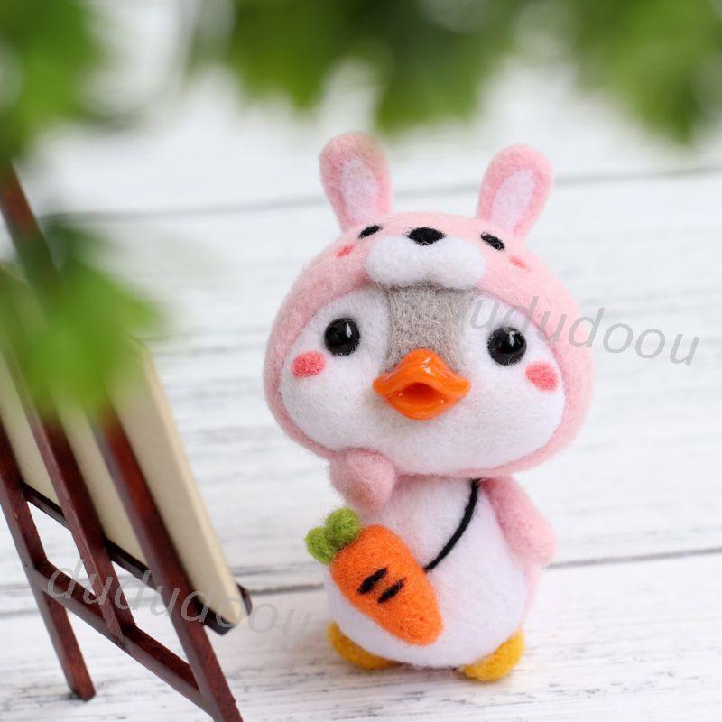 [Do] 毛氈 製作 材料包 Q企鵝 兔子企鵝 毛氈 工藝品 DIY 未完成 材料