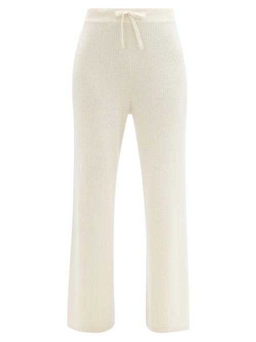Lisa Yang - Heather Ribbed Cashmere Trousers - Womens - Cream