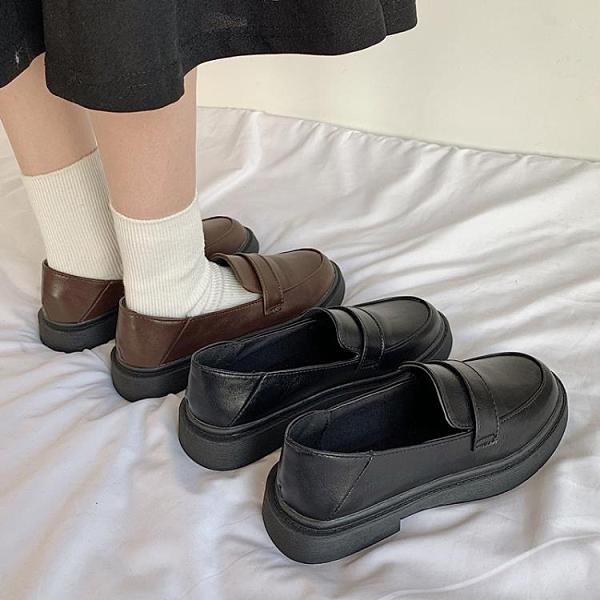 小皮鞋女英倫風2020新款冬季薄款軟皮可愛日系jk制服平底百搭單鞋 安雅家居館