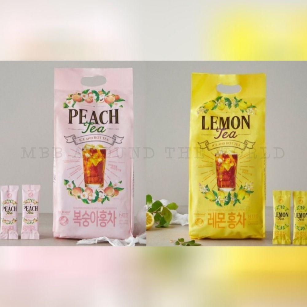 韓國 NO BRAND 水果茶 檸檬紅茶 水蜜桃紅茶 沖泡粉 即溶飲 即溶粉
