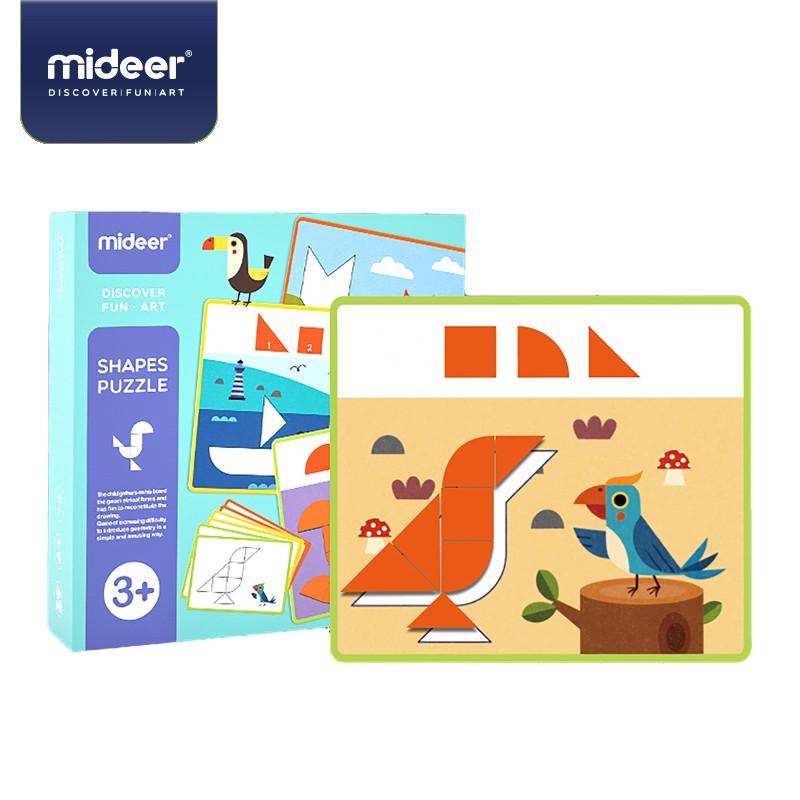 《MiDeer》兒童幾何木片拼圖