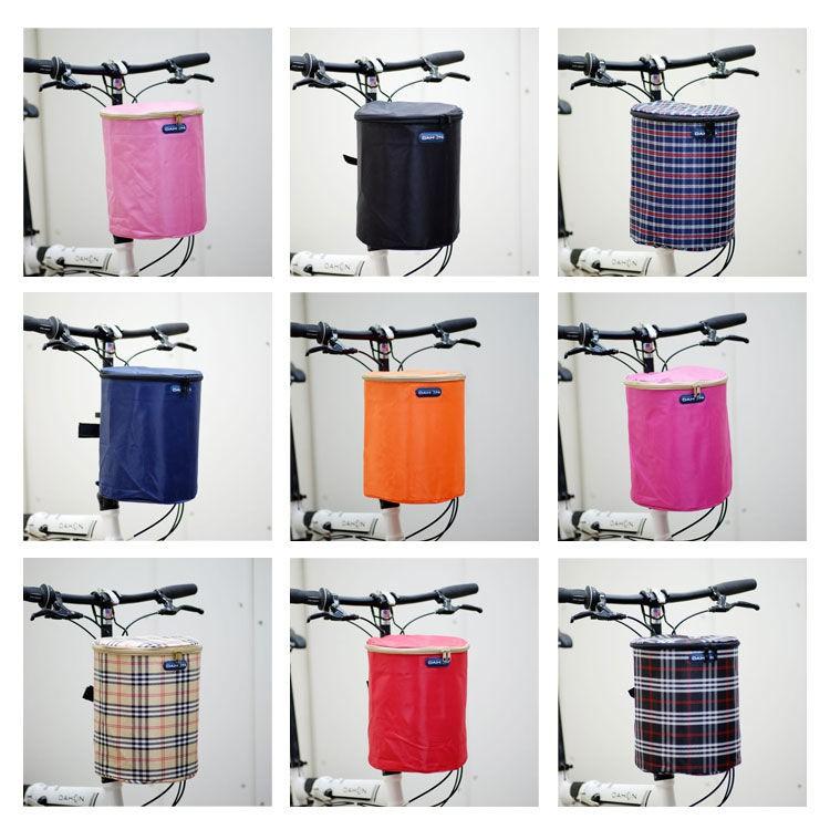 ๑℗折疊自行車車筐加厚帆布車籃單車籃子滑板電動車布車簍防水車前筐pdd