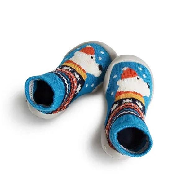 法國 Collegien 手工襪鞋 冰雪小熊 夜光款(20-23)