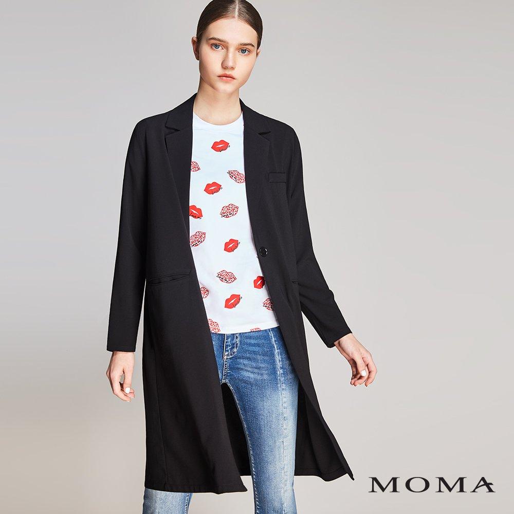 MOMA(01J027)軟質長西裝外套