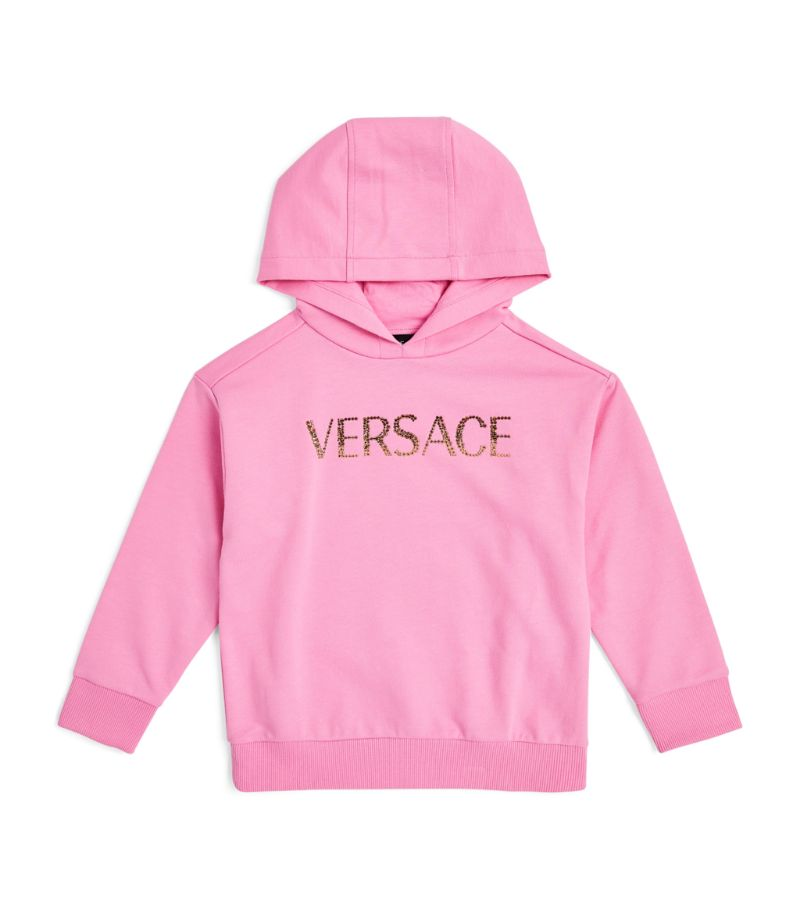 Versace Kids Diamanté-Logo Sweatshirt (4-14 Years)